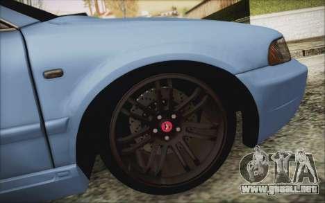 Audi S4 Hellaflush para GTA San Andreas vista hacia atrás
