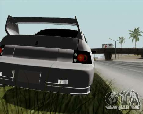 VAZ 2110 v2 para GTA San Andreas vista hacia atrás