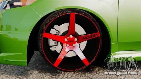 Acura TSX Mugen 2010 para GTA 4 vista hacia atrás
