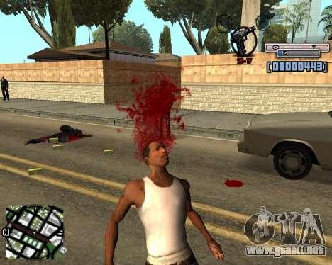 C-HUD by olimpiad para GTA San Andreas tercera pantalla