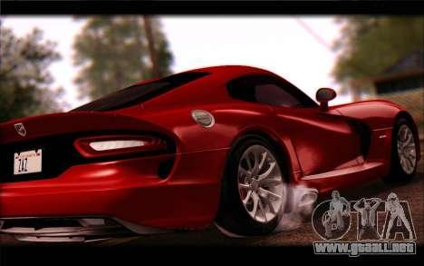 SRT Viper Autovista para GTA San Andreas vista posterior izquierda