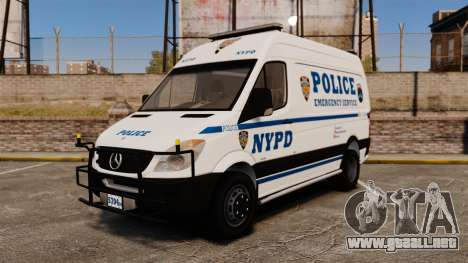 Mercedes-Benz Sprinter 3500 Emergency Response para GTA 4