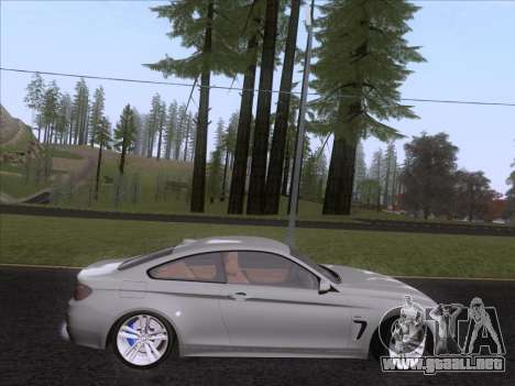 BMW F32 4 series Coupe 2014 para GTA San Andreas vista posterior izquierda