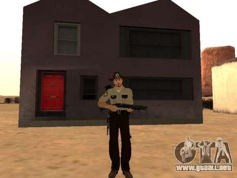 Rick Grimes para GTA San Andreas segunda pantalla