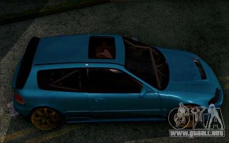 Honda Civic EG6 Tube Frame para GTA San Andreas vista posterior izquierda