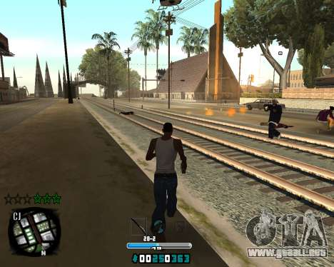 C-HUD Old Tawer para GTA San Andreas segunda pantalla