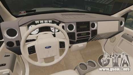 Ford F-350 Pitbull v2.0 para GTA 4 vista hacia atrás