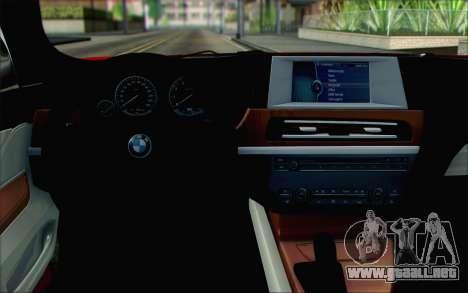 BMW 6 Gran Coupe v1.0 para la visión correcta GTA San Andreas