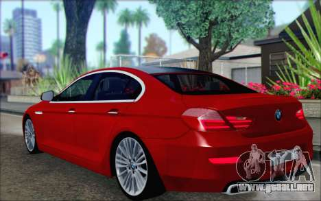 BMW 6 Gran Coupe v1.0 para GTA San Andreas left