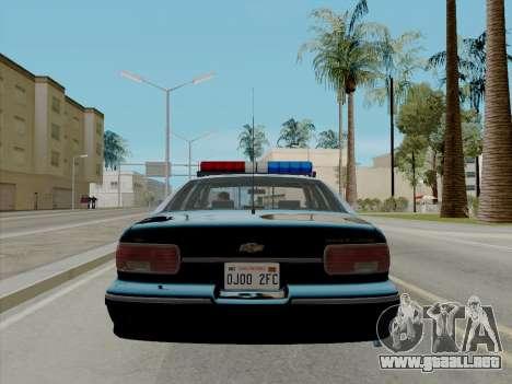 Chevrolet Caprice LAPD 1991 [V2] para GTA San Andreas vista posterior izquierda