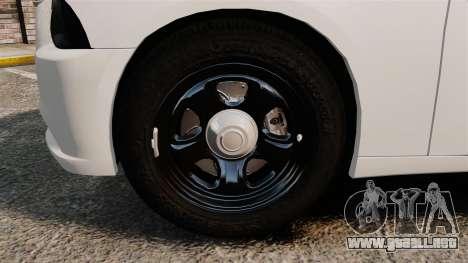 Dodge Charger 2014 para GTA 4 vista hacia atrás