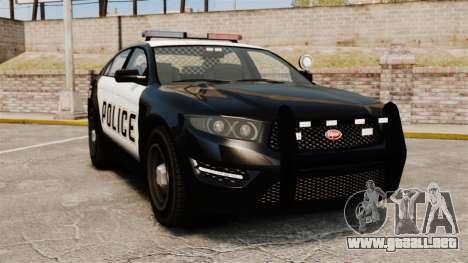 GTA V Vapid Police Interceptor [ELS] para GTA 4