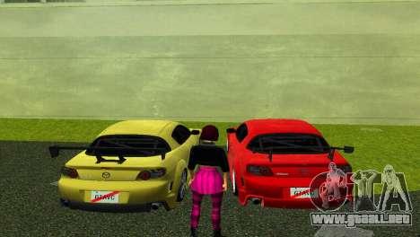 Mazda RX8 Type 1 para GTA Vice City vista lateral izquierdo