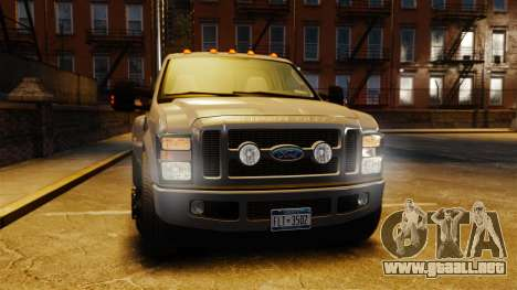 Ford F-350 Pitbull v2.0 para GTA 4 vista superior