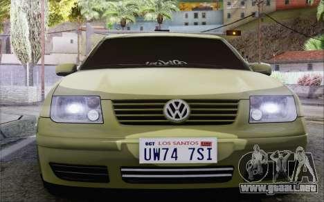 Volkswagen Bora Stance para la visión correcta GTA San Andreas