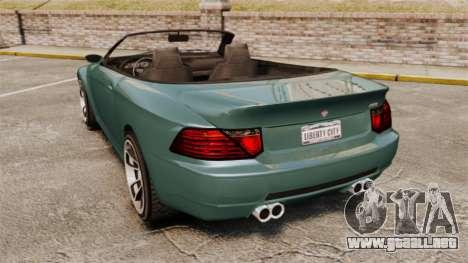 GTA V Zion XS Cabrio para GTA 4 Vista posterior izquierda