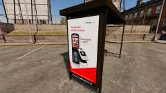Nuevos carteles de publicidad en las paradas de autobús para GTA 4