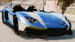 Lamborghini Aventador J Police para GTA 4
