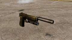 Pistola semiautomática Beretta 92 con silenciador para GTA 4