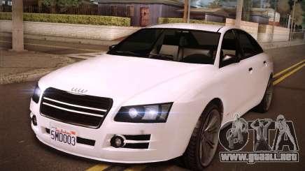 GTA V Tailgater para GTA San Andreas