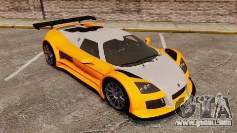Gumpert Apollo S 2011 para GTA 4 vista desde abajo