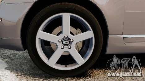 Volvo V70 Unmarked Police [ELS] para GTA 4 vista hacia atrás