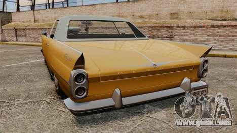 Peyote 1950 para GTA 4 Vista posterior izquierda