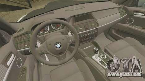 BMW X6 M HAMANN 2012 para GTA 4 vista lateral