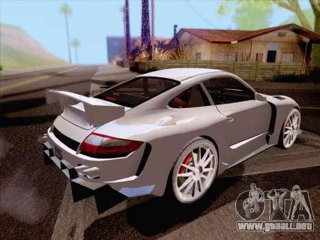 Porsche Carrera S para GTA San Andreas vista posterior izquierda