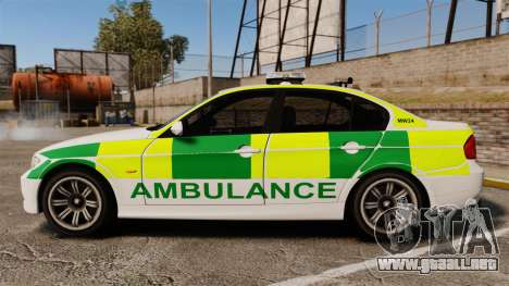 BMW 330i Ambulance [ELS] para GTA 4 left