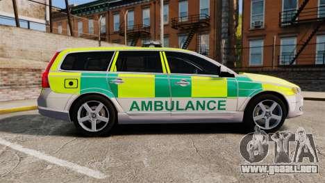 Volvo V70 Ambulance [ELS] para GTA 4 left