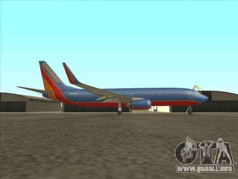 Boeing 737 Southwest Airlines para GTA San Andreas left