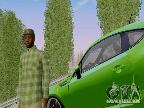 El pandillero de Grove Street de GTA 5 para GTA San Andreas tercera pantalla