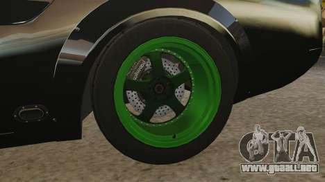 Ford Mustang RTRX para GTA 4 vista hacia atrás