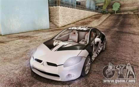 Mitsubishi Eclipse GT v2 para la vista superior GTA San Andreas