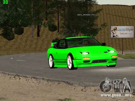 Nissan 240SX Drift Version para visión interna GTA San Andreas