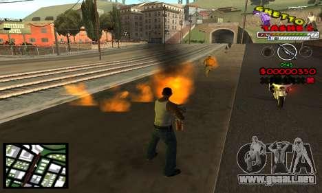 C-Hud Getto Tawer para GTA San Andreas tercera pantalla
