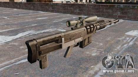 Rifle de francotirador AS50 para GTA 4 segundos de pantalla