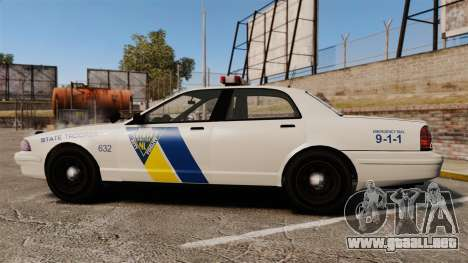 GTA V Vapid State Police Cruiser [ELS] para GTA 4 left