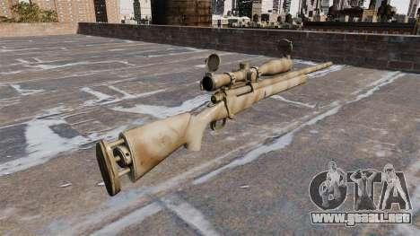El rifle de francotirador M24 SWS para GTA 4 segundos de pantalla