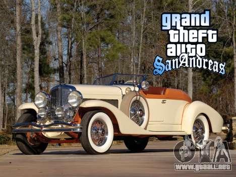New loadscreen Old Cars para GTA San Andreas sexta pantalla