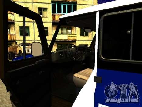 UAZ Hunter PPP para visión interna GTA San Andreas