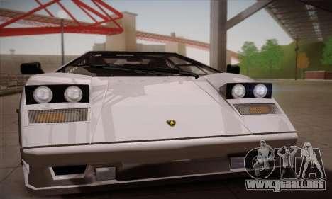 Lamborghini Countach 25th Anniversary para GTA San Andreas vista posterior izquierda