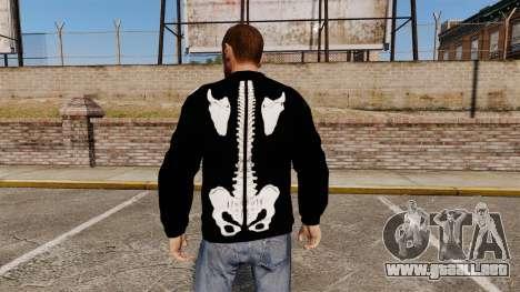 Suéter negro-esqueleto para GTA 4 segundos de pantalla