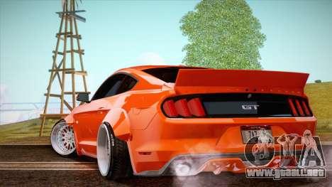 Ford Mustang Rocket Bunny 2015 para GTA San Andreas vista posterior izquierda