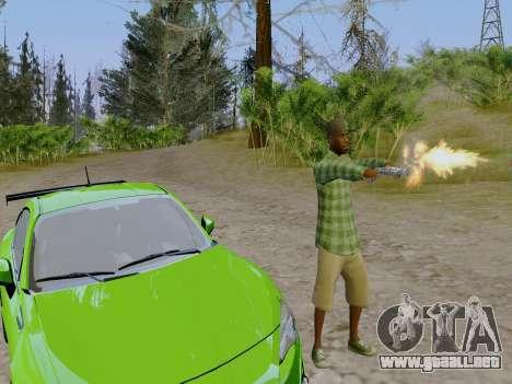 El pandillero de Grove Street de GTA 5 para GTA San Andreas sucesivamente de pantalla