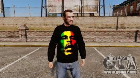Suéter-Bob Marley- para GTA 4
