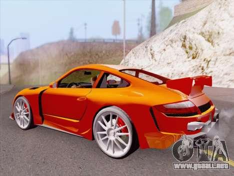 Porsche Carrera S para vista inferior GTA San Andreas