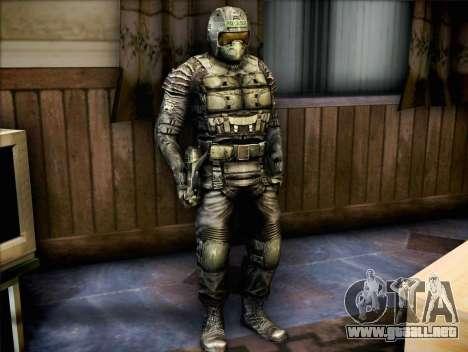 Militares de call of Pripyat para GTA San Andreas segunda pantalla