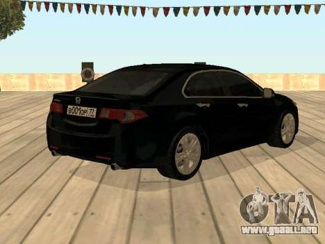 Honda Accord 2010 V2.0 para GTA San Andreas left